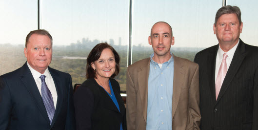 Mike Berry of Hillwood Properties; Kathy Doyle Thomas of Half Price Books; Sandy Leeds of the McCombs School of Business at UT; Tony Gilbert of Mary Kay Inc.