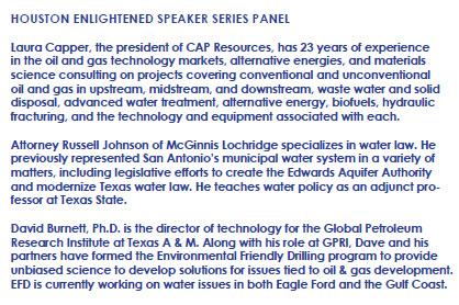 Houston Panel - Water Energy Nexus - MJ 14