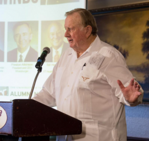 "Red McCombs told attendees to, ""Expect to win."""
