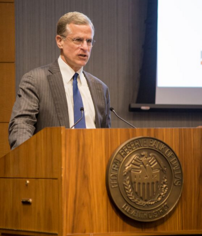 President & CEO of the Federal Reserve Bank of Dallas welcomes attendees.